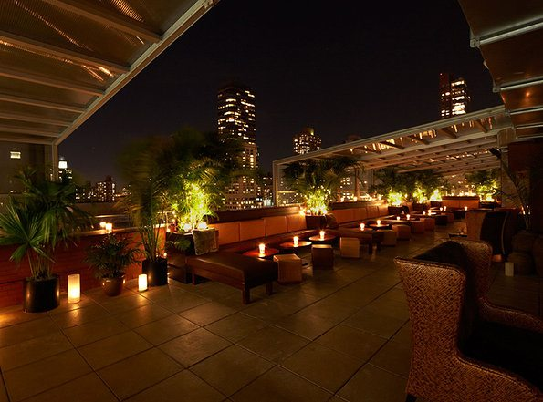 Side terrace at Empire Rooftop Hotel