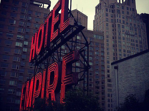 The renowned Hotel Empire sign which is viewable from the rooftop