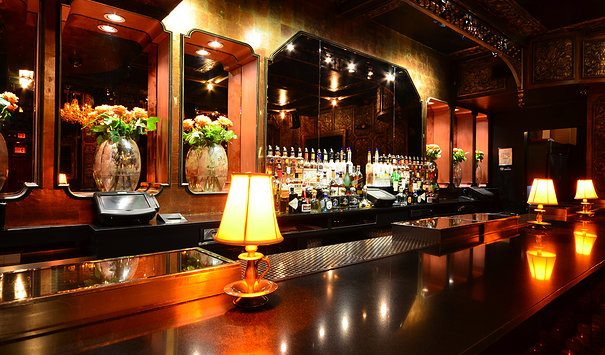 Main bar at Griffin in NYC