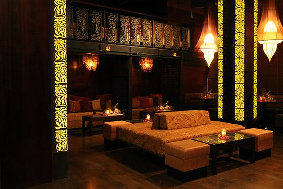 Main Seating area at Taj for bottle service