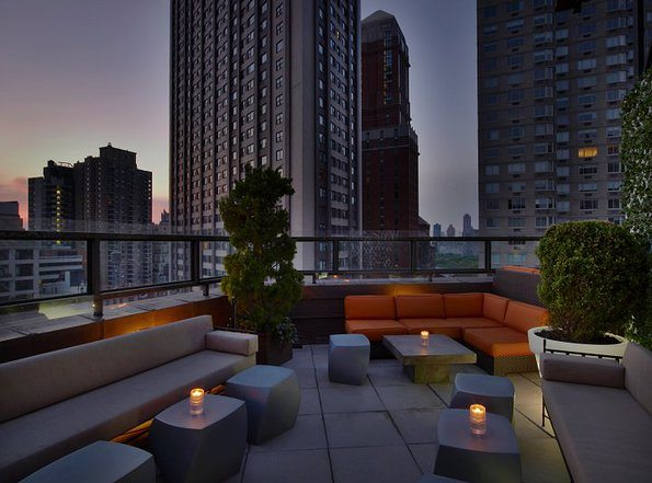 Sunset View at Empire Rooftop Hotel in the summertime