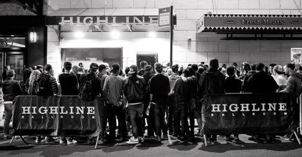 The line outside of Highline Ballroom before a special event
